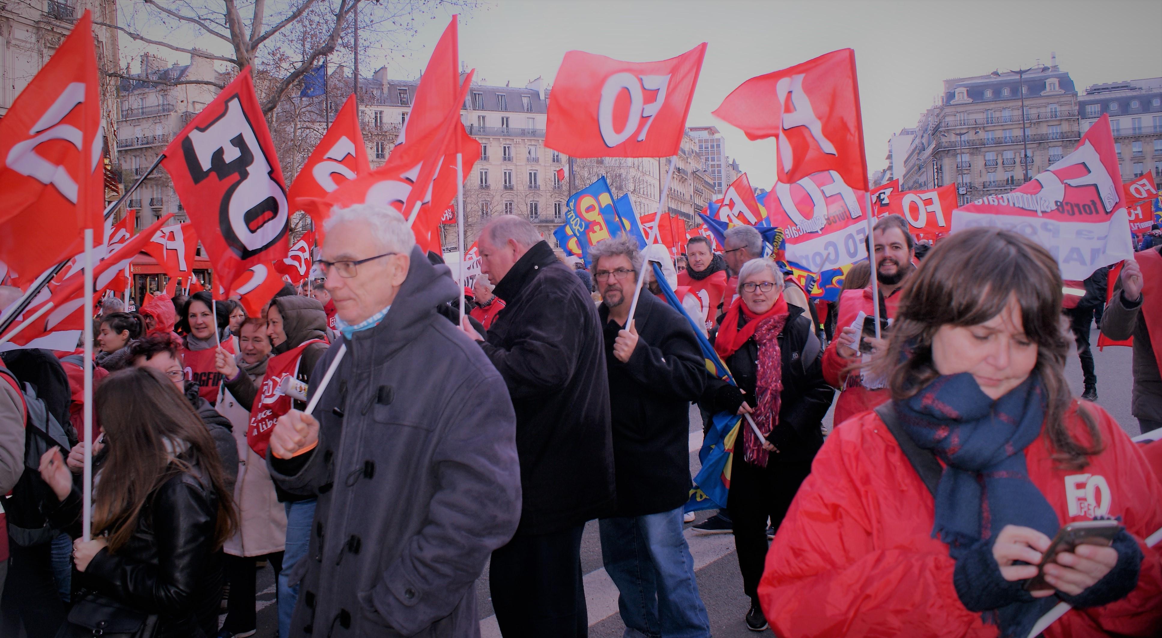 7 février 2019  à Paris - Manifestation à l'appel de FO-Fonction publique