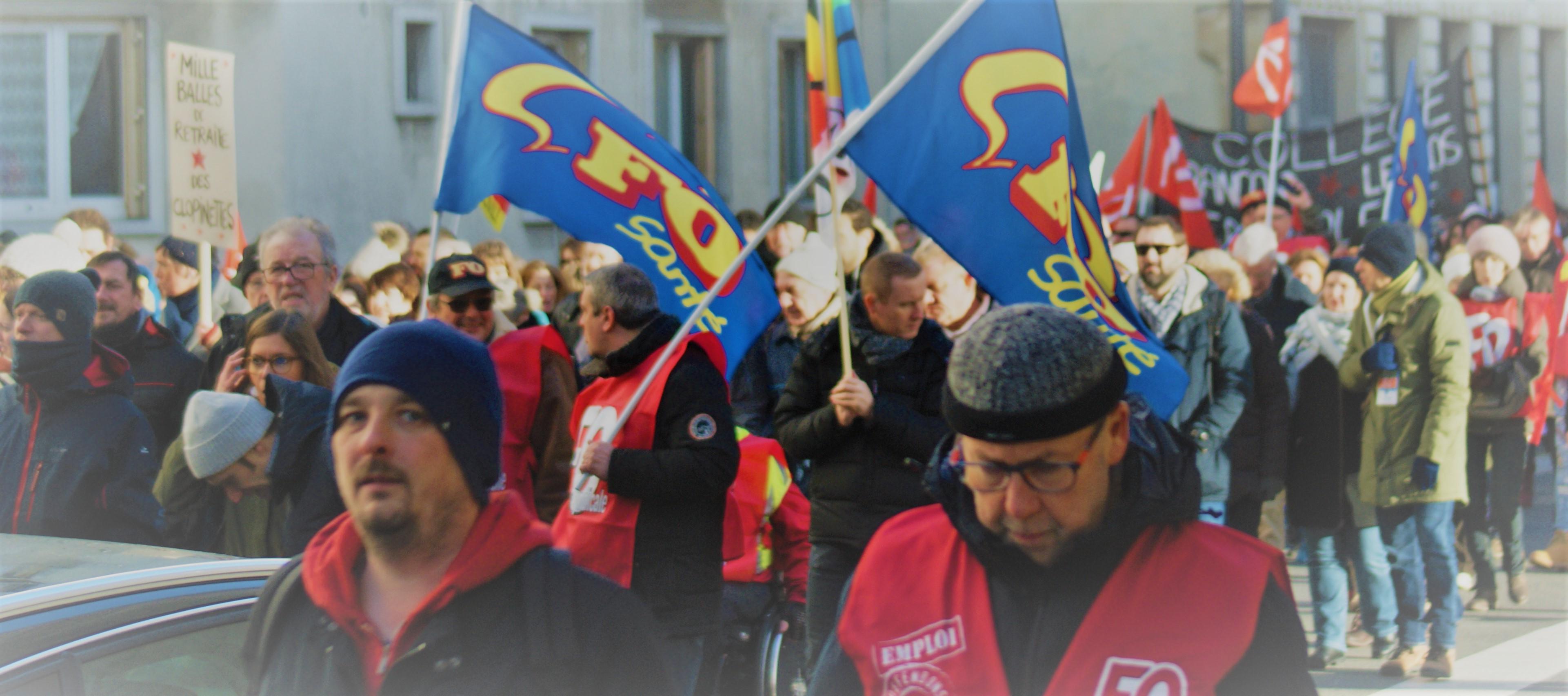 Grève interprofessionnelle - Reims - Mardi 10 décembre 2019