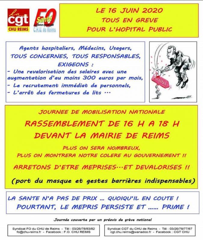 Tract grève du 16 juin