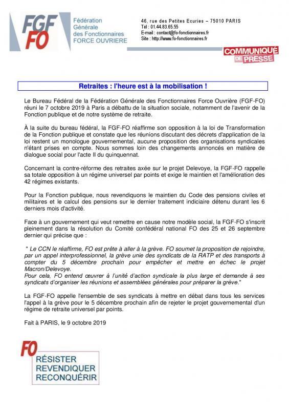 2019 10 09 communique de presse fgf fo retraites l heure est a la mobilisation page 001