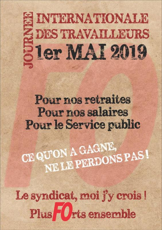 Affiche 1er mai 2019