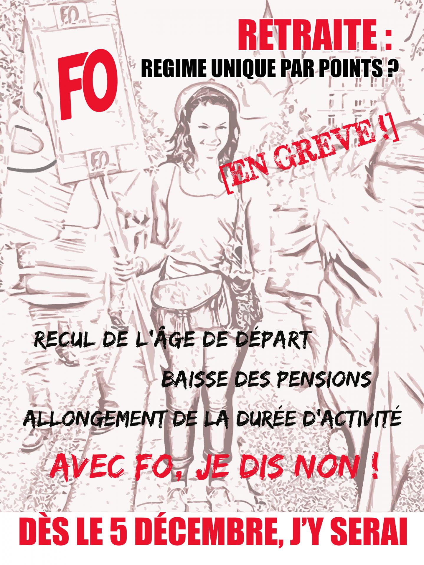 Affiche 5 decembre femme