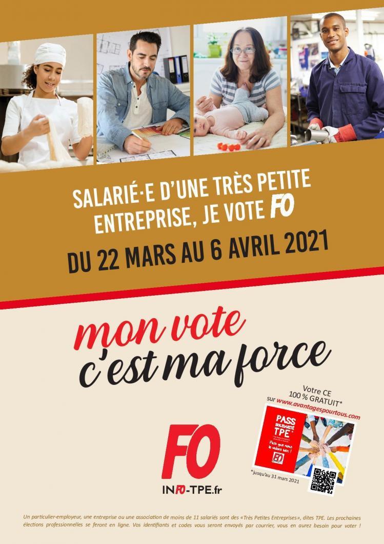 Tout sur l'élection TPE sur le site Force Ouvrière