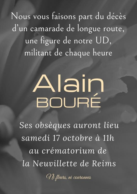 Alain boure obseques