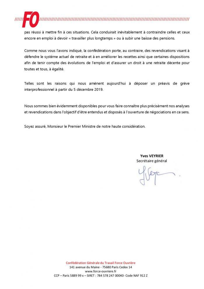 Annexe circ n 211 2019 monsieur edouard philippe preavis de greve interprofessionnelle du 5 decembre page 002