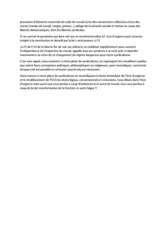 Déclaration de la CE de l'UDFO51 du lundi 8 juin 2020-2