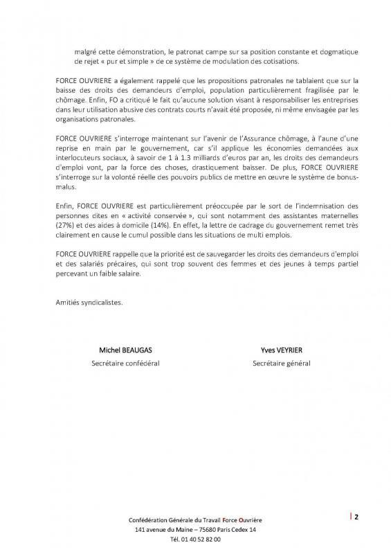 Circ n 49 2019 echec des negociations sur l assurance chomage 1 page 2