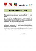 Communique 1er mai