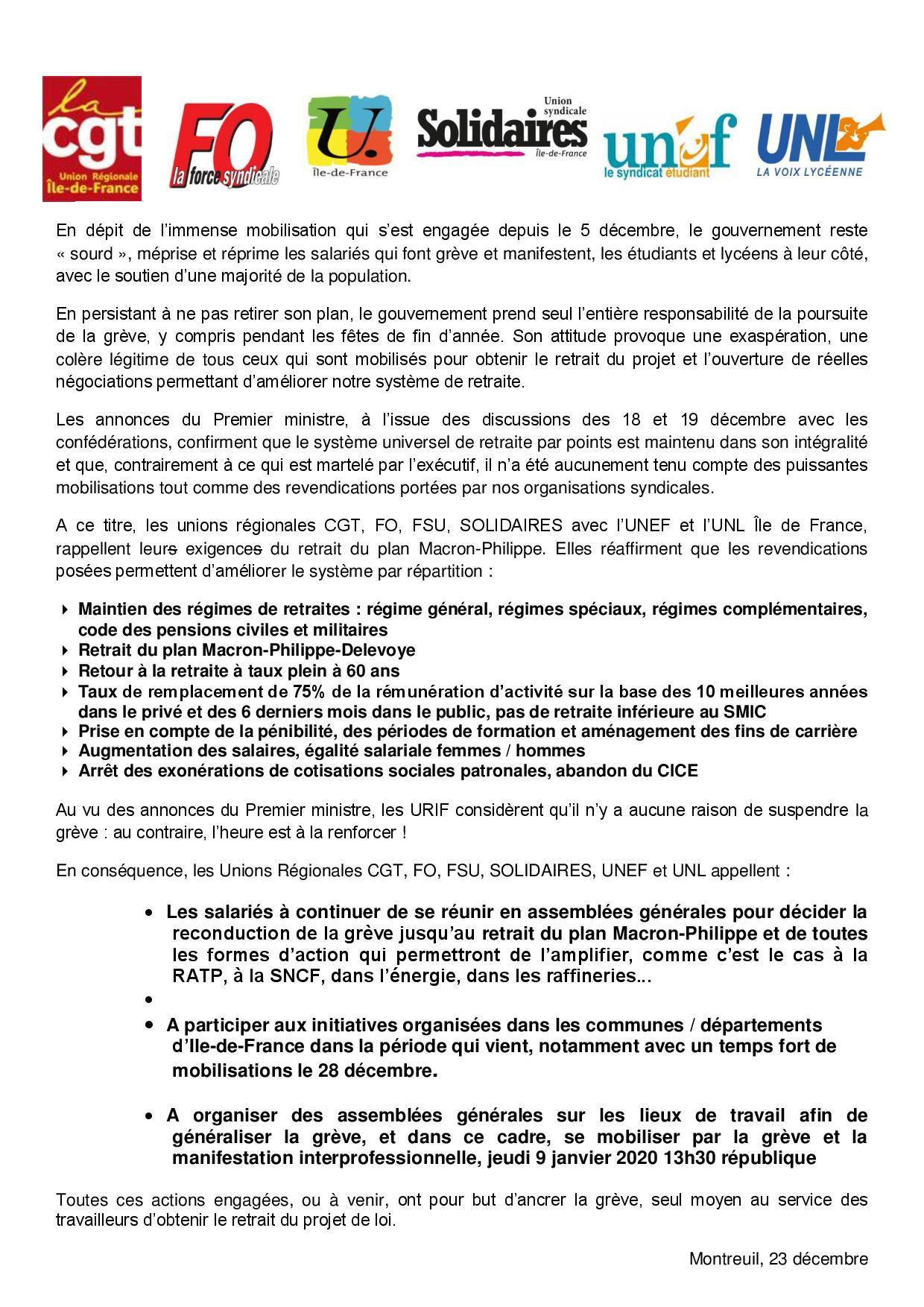 Communique unitaire os idf 2019 12 26 page 001