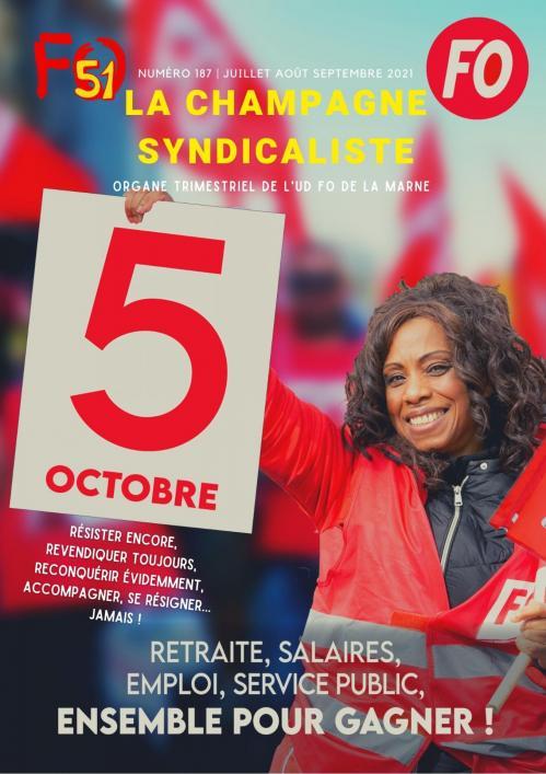 la champagne syndicaliste numero 187 juillet aout septembre 2021