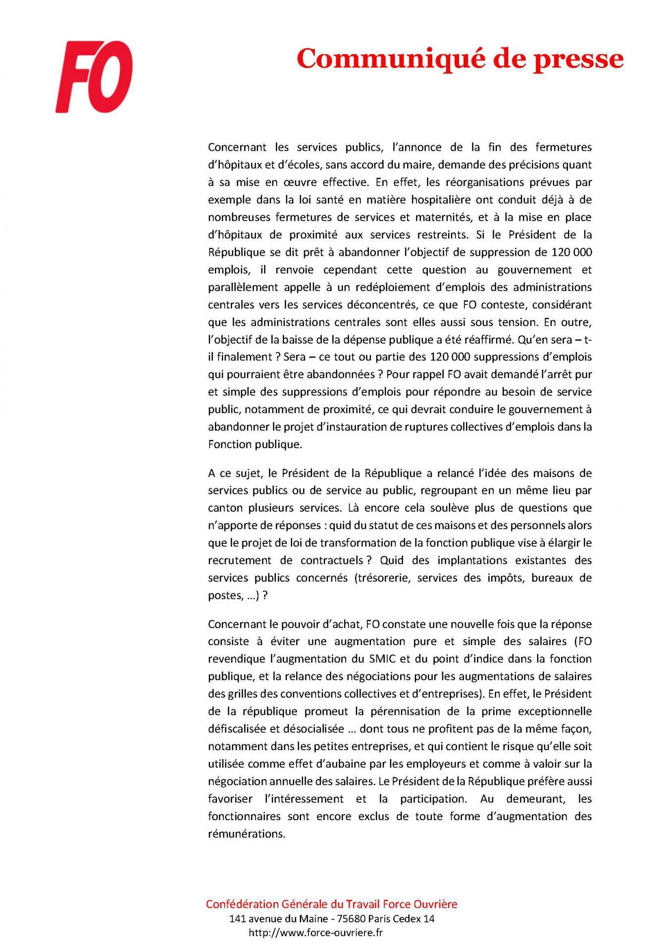 Cp fo conference de presse du president de la republique premiere reaction page 2
