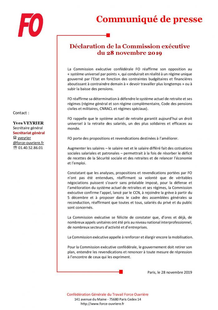 Cp fo declaration de la commission executive page 001