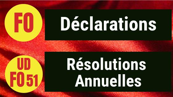 Déclarations Confédérale et UDFO51