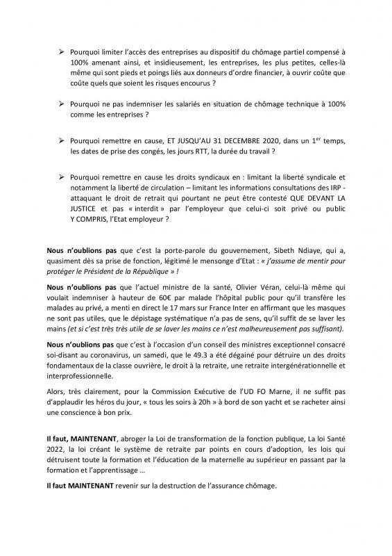 Declaration de la commission executive 30 03 20 page 002