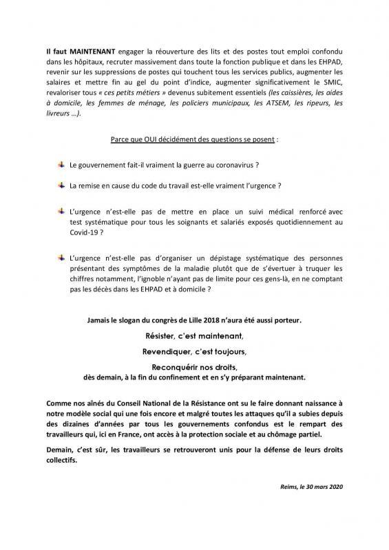 Declaration de la commission executive 30 03 20 page 003