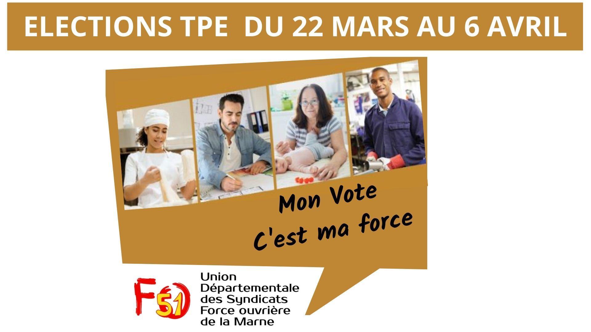 Elections tpe du 22 mars au 6 avril