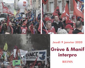En tete greve 9 janvier 2020