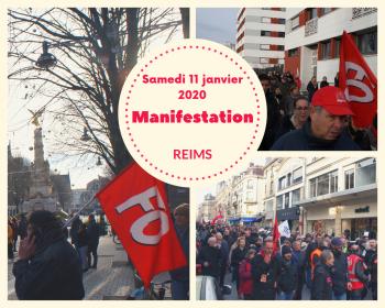 En tete manifestation 11 janvier 2020
