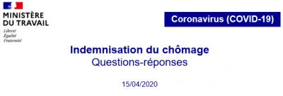 Ministère du Travail - FAQ indemnisation chomage _ logo