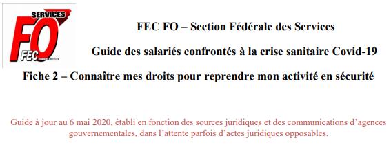 FEC FO - fiche 2 - Connaître ses droits