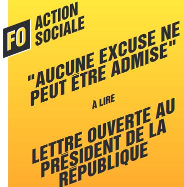 Fo action lettre ouverte au president