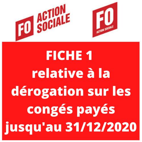 Fo action sociale derogation