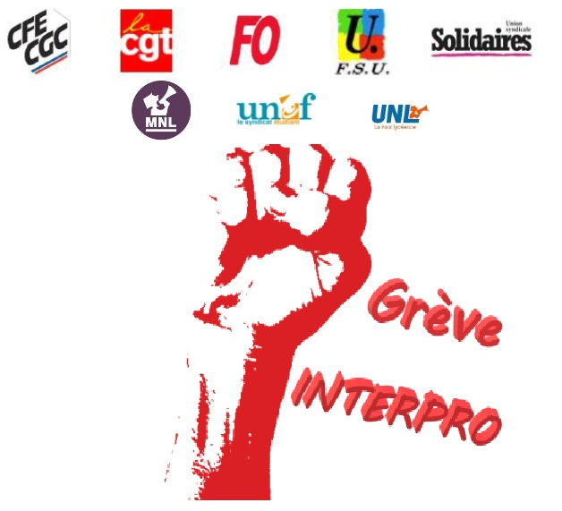 Intersyndicale logo 11 01 2020