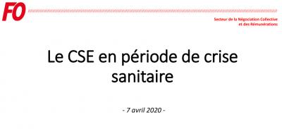 Le cse en periode de crise sanitaire fo 7 avril 2020 logo