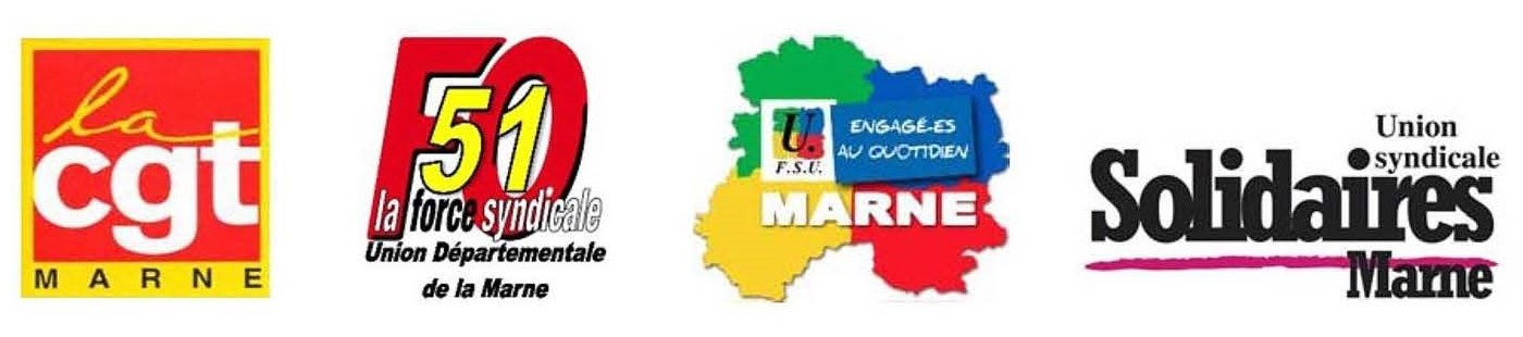 Logo intersyndical cgt fo fsu solidaire