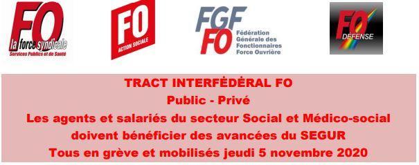 Logo tract interfederal fo segur 22 10 2020