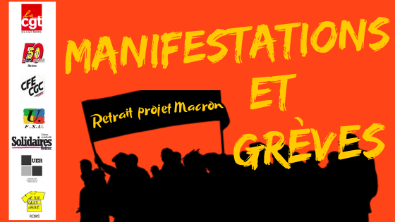 Manifestations et greves retrait