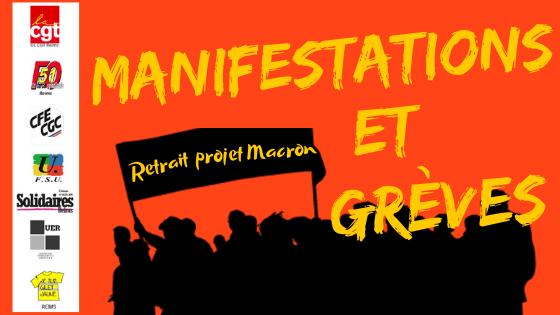 Manifestations et greves retrait