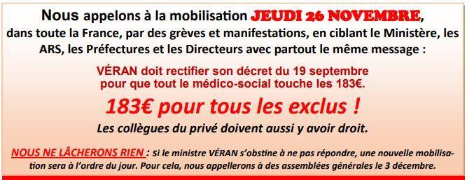 Mobilisation fph du 26 novembre