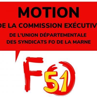 Motion de la CE de l'UD FO de la Marne du 14 décembre 2020