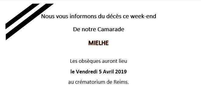 Obseques de Mielhe le 5 avril 2019
