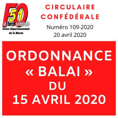 Ordonnance balai du 15 avril 2020 logo