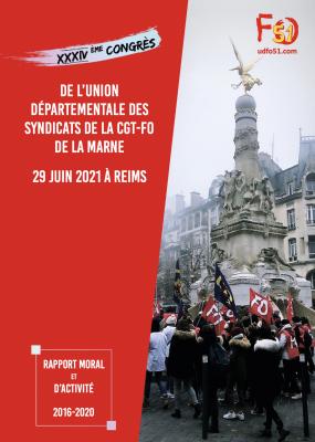 Rapport Moral et d'Activité - XXXIV ème Congrès UD de la Marne