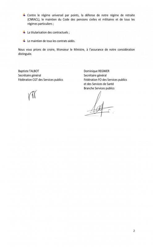 Preavis de greve de l intersyndicale adresse a christophe castaner du 27 au 31 mai 2019 page 2