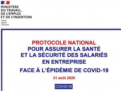 Protocole national sante et securite en entreprise 31 08 220