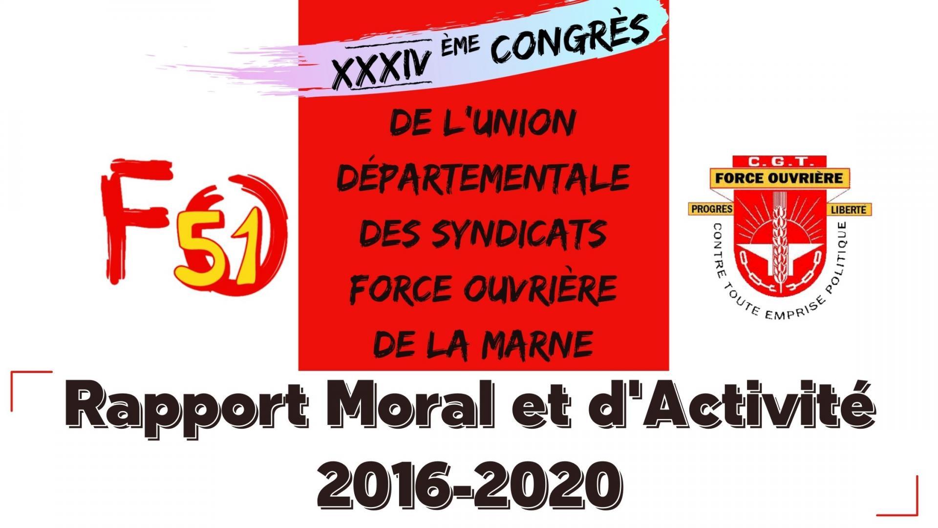 Rapport moral et d activite udfo51 logo