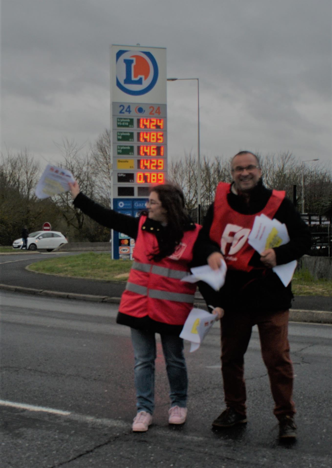 Tractage du 15-03-2019 - Rond-Point de Leclerc St-Brice