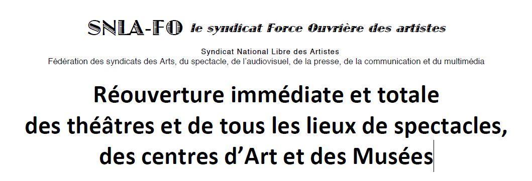 Reouverture immediate culture snla fo logo