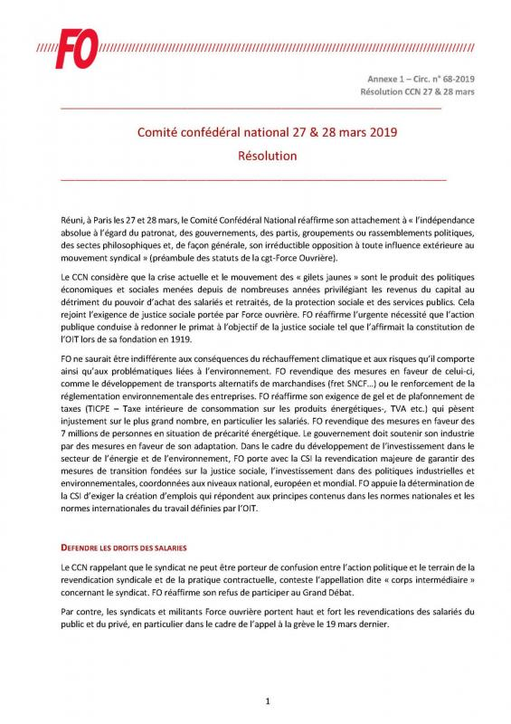 Resolution ccn 27 et 28 mars 2019 page 1