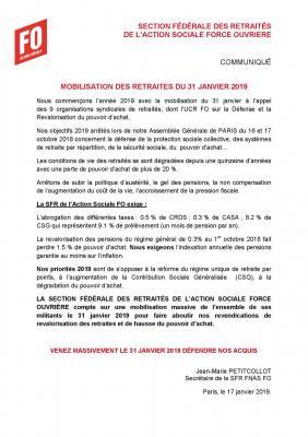 Section federale des retraites et futurs retraites mobilisation du 31 janvier 2019 pdf