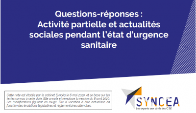 Syncea questions reponses 6 mai 2020 logo