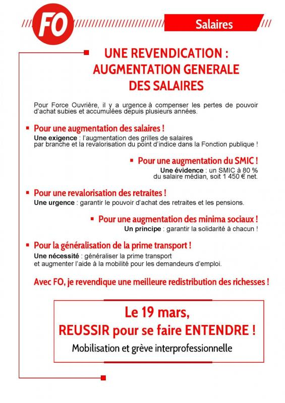 Tract augmenter les salaires 19 mars