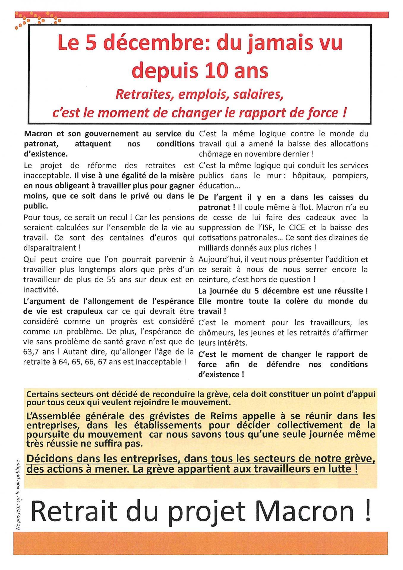 Tract reconduction unitaire greve 10 et 12 decembre reims page 001