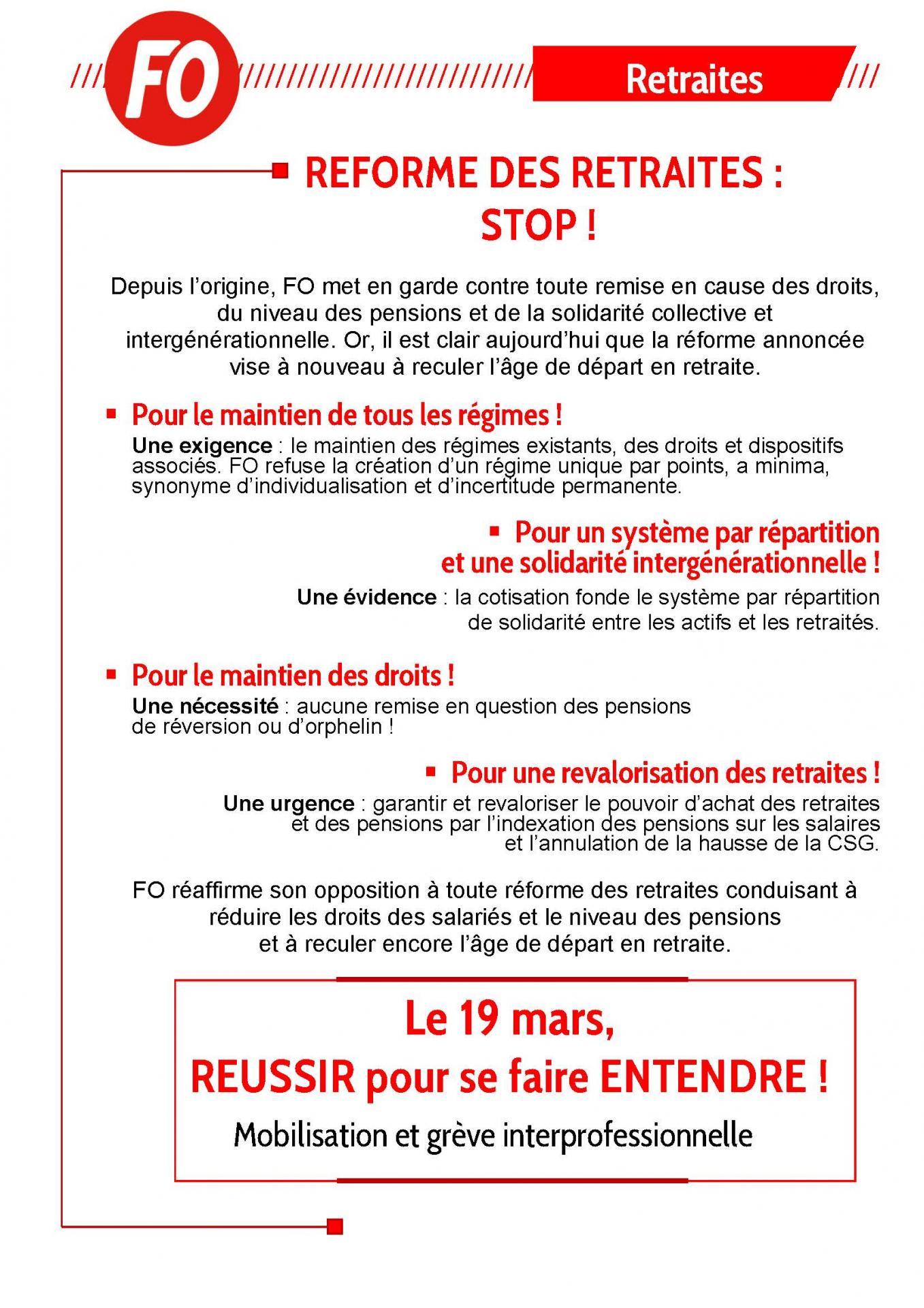 Tract reforme des retraites 19 mars