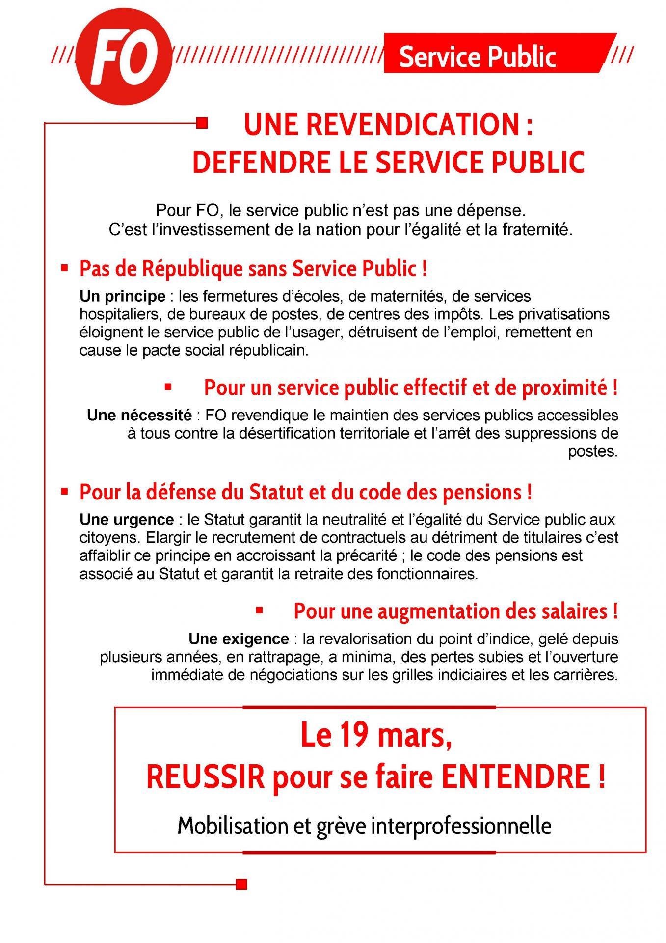 Tract service public 19 mars