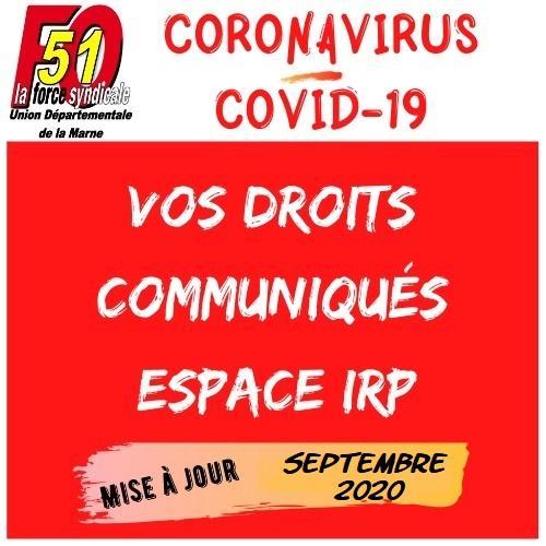 Udfo51 coronavirus covid 19 logo septembre 2020